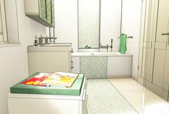 3d cad planung guido vaqu fliesenverlegung. Black Bedroom Furniture Sets. Home Design Ideas